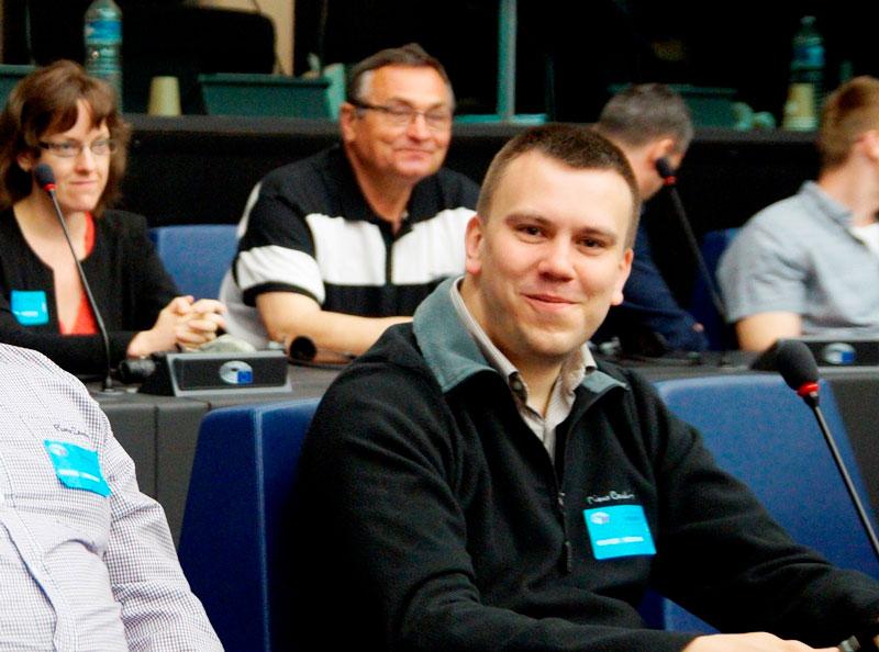 Molnár Tamás az Európai Parlamentben (Fotó: Hideghéthy Andrea/Felvidék.ma)